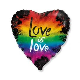 Folie Ballon Love is Love (leeg)