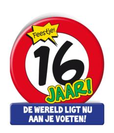 Wenskaart 16 jr Verkeersbord