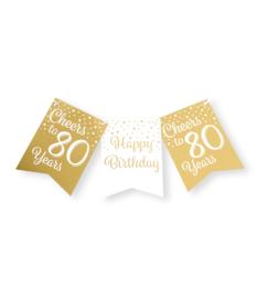 Vlaggenlijn 80 Goud / Wit