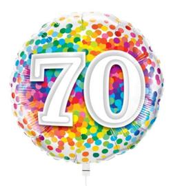 Folie Ballon Rainbow Confetti - 70 (leeg)