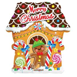 Folie Ballon Kerst Snoep Huisje (leeg)