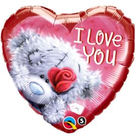 Folie ballon Teddy beer I Love You (leeg)