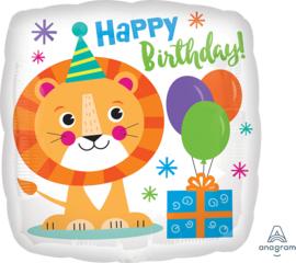 Folie Ballon Happy Lion Birthday (leeg)