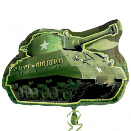 Folie ballon Camouflage Birthday Tank (leeg)