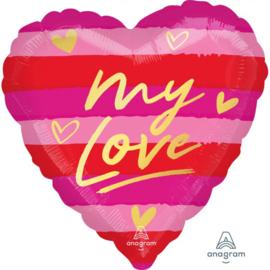 Folie Ballon My Love (leeg)