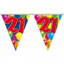 21 jaar ballon Vlaggenlijn