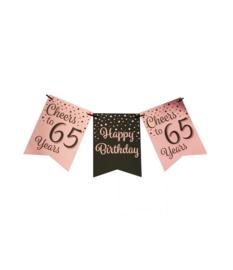 Vlaggenlijn 65 Roze - Zwart
