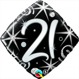 Folie ballon Square Elegant Sparkles & Swirls - 21 (leeg)
