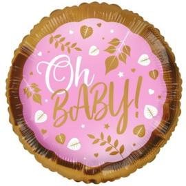 Folie Ballon Oh Baby! Pink (leeg)