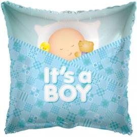 Folie ballon It's a boy Slapen (leeg)