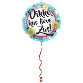 Folie Ballon Dikke Kus Lieve Zus (leeg)