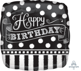 Folie Ballon Chalkboard Birthday (leeg)