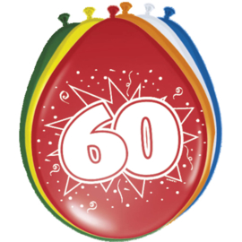 Latex Ballonnen 60 Jaar