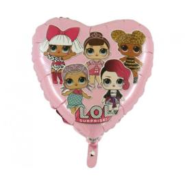 Folie ballon L.O.L Suprise Hart Roze (leeg)
