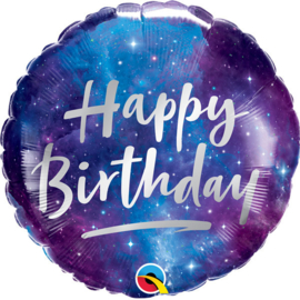 Folie Ballon Happy Birthday Spacy Galaxy (leeg)