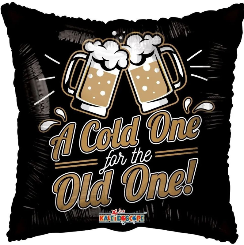 Folie Ballon A Cold one for the old one! (leeg)