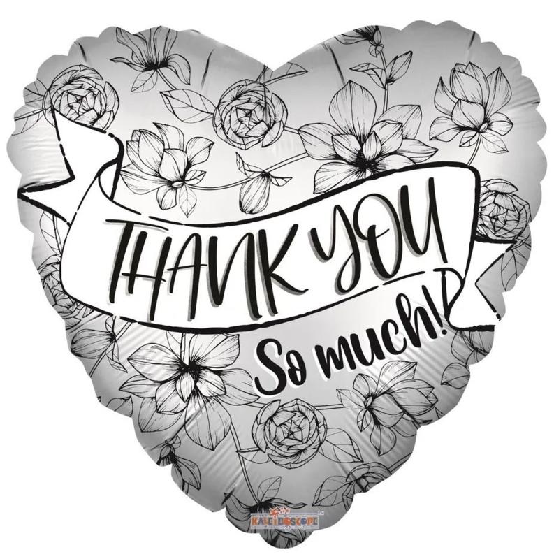 Folie Ballon Thank You So Much! (leeg)