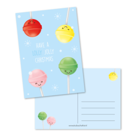 Postkaart - Have a lolly jolly christmas