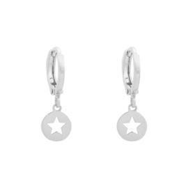 Minimalistische oorbellen - ster (zilver)