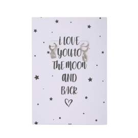 I love you to the moon and back - zilver