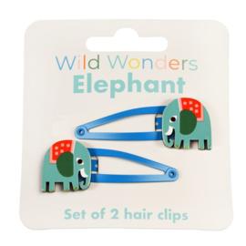 Haarspeldjes Wild Wonders Olifant