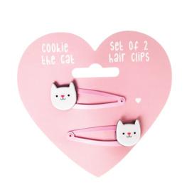 Haarspeldjes Cookie de kat
