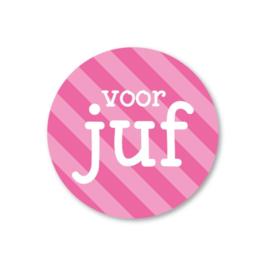 Sticker - Voor juf (per stuk)