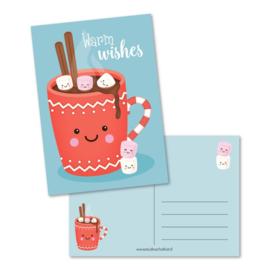 Postkaart - Warm wishes