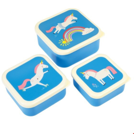 Snackdoosje 3 set Unicorn