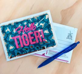 Hello Tiger! Tea Postcard