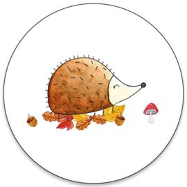 Sticker   Herfst egel   5 stuks