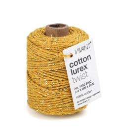 Koord | Oker geel met lurex draad goud 50M
