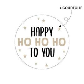 Sticker | Happy ho ho ho to you | 10 stuks
