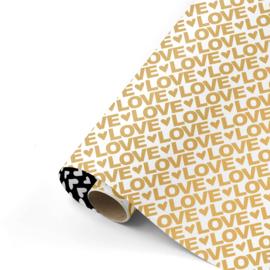 Love Letters goud/zwart | 50CM x 3M