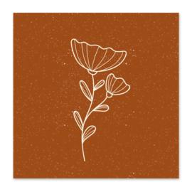 Mini kaartje | Bloem roest