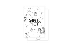 Mini kaartje   Sint & Piet