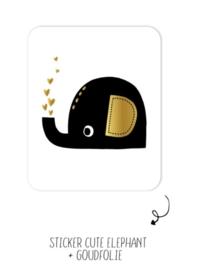 Sticker | Cute Elephant | 10 stuks