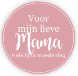 Sticker | Voor mijn lieve mama | 5 stuks
