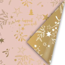 Inpakpapier | Mistletoe Kisses - roze goud 3M