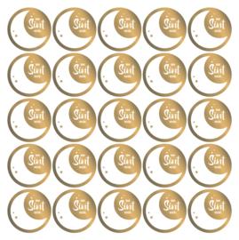 Sticker | Van Sint - goudfoil | 10 stuks