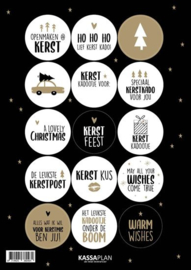 Stickers | A5 kerst - 15 stickers