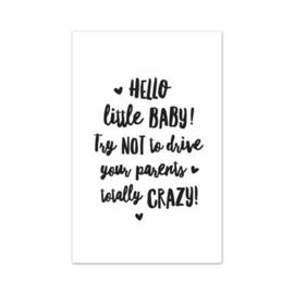 Mini kaartje || Hallo little baby