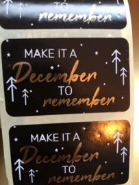 Wensetiket 'Make it a december to remember'