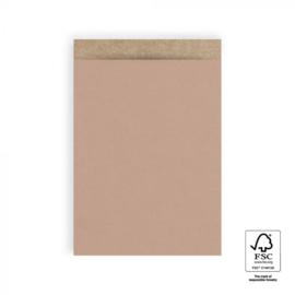 Cadeauzakjes   Craft warm pink 17x25 CM - 5 stuks