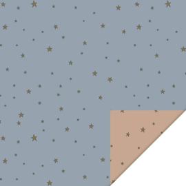 Inpakpapier   Stars duo 30CM x 3M