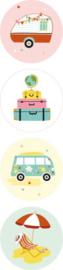 Sticker | Summer holiday | 8 stuks