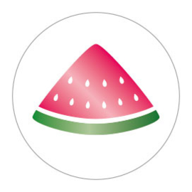 Sticker | Meloen | 10 stuks