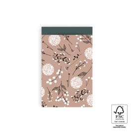Cadeauzakjes | Flowers Big - Pink / Petrol 17x25 CM - 5 stuks