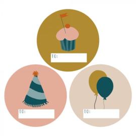 Sticker | Party | 9 stuks