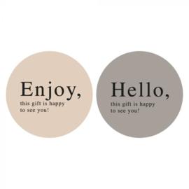 Sticker   Enjoy / Hello DUO   10 stuks